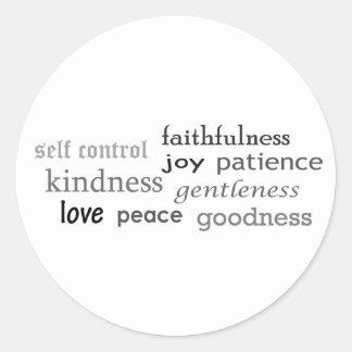 Fruits of the Spirit, Galatians 5:22-23 Classic Round Sticker