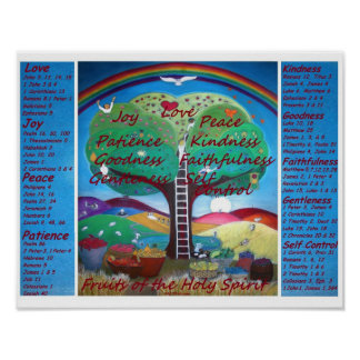 Fruits of the Spirit Poster with Verses - Med Size