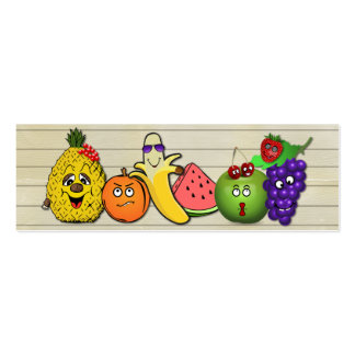 fruits only papershop gifts pack of skinny business cards