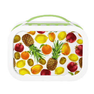 Fruits pattern Yubo Lunchbox, Green Lunch Box