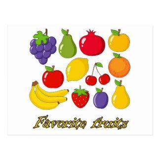 Fruits Postcard