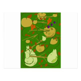 fruits stencil postcard