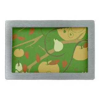 fruits stencil rectangular belt buckles