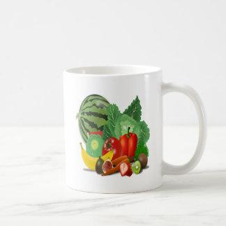 fruits vegetables artichoke banana coffee mug