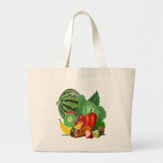 fruits vegetables artichoke banana large tote bag