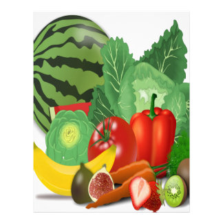 fruits vegetables artichoke banana letterhead