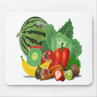 fruits vegetables artichoke banana mouse pad