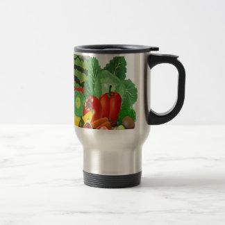 fruits vegetables artichoke banana travel mug