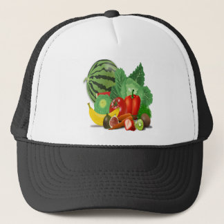 fruits vegetables artichoke banana trucker hat