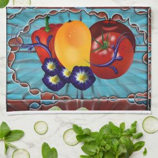 Fruits Vegetables Hand Towels