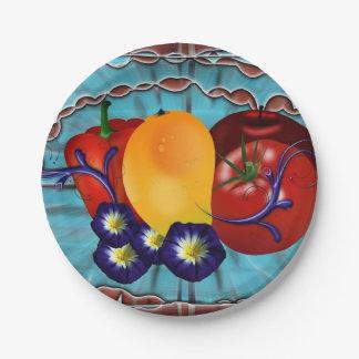 Fruits Vegetables Paper Plate