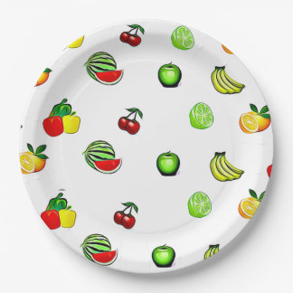 Fruits & Veggies Graphics Food  Party Paper Plate