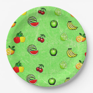 Fruits & Veggies Graphics Food  Party Paper Plate 9 Inch Paper Plate