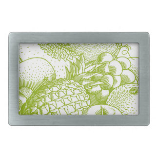 Fruits vintage food healthy retro belt buckle