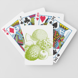 Fruits vintage food healthy retro bicycle playing cards