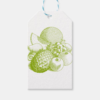 Fruits vintage food healthy retro gift tags