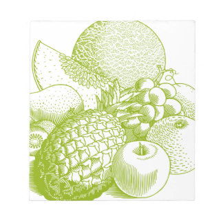 Fruits vintage food healthy retro notepad