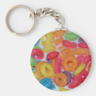 Fruity Cereal Basic Round Button Keychain