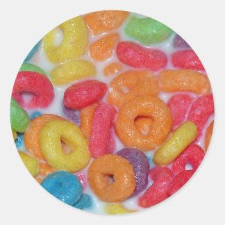 Fruity Cereal Round Sticker