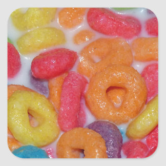 Fruity Cereal Square Sticker