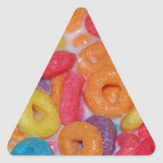 Fruity Cereal Triangle Sticker