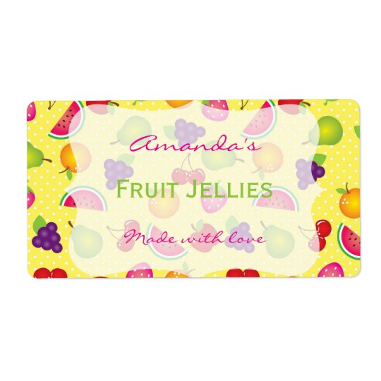 Fruity Cute Personalized Canning Label