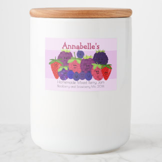 Fruity Fun Mixed Berry Design Food Label