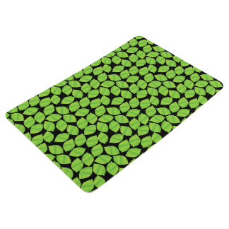 Fruity Green Limes, Black Background to Customize Floor Mat