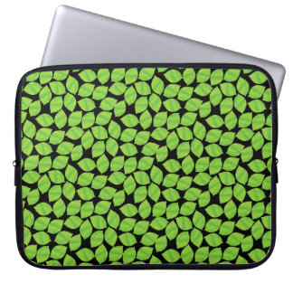 Fruity Green Limes, Black Background to Customize Laptop Sleeve