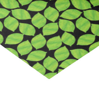 Fruity Green Limes, Black Background to Customize Tissue Paper