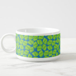 Fruity Green Limes on Blue Background to Customize Bowl