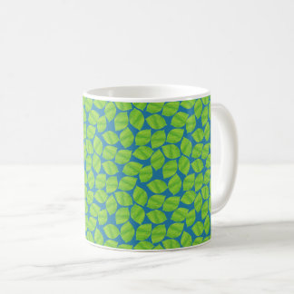 Fruity Green Limes on Blue Background to Customize Coffee Mug