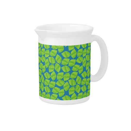 Fruity Green Limes on Blue Background to Customize Drink Pitcher