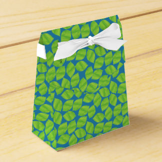 Fruity Green Limes on Blue Background to Customize Favor Box