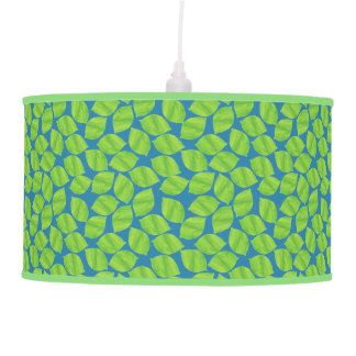 Fruity Green Limes on Blue Background to Customize Pendant Lamp
