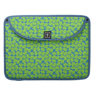 Fruity Green Limes on Blue Background to Customize Sleeve For MacBooks