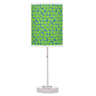 Fruity Green Limes on Blue Background to Customize Table Lamp