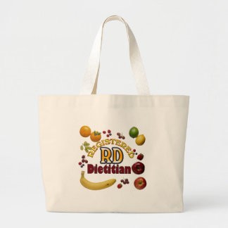 FRUITY RD - REGISTERED DIETITIAN LARGE TOTE BAG