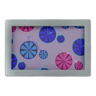 Fruity ride pattern rectangular belt buckle