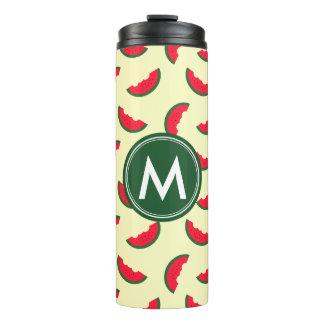 Fruity Summer Red Watermelon Monogram Thermal Tumbler