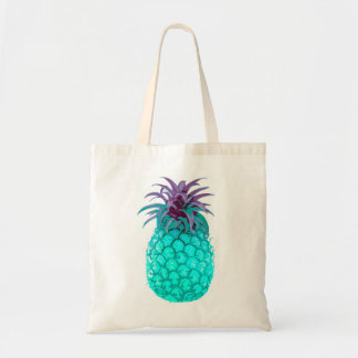 Fruity Teal Pineapple Tote