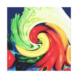 FRUITY TRUDY (Abstract-Choose Your Size) Canvas Print