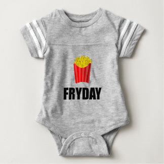 Fryday Friday Fries Baby Bodysuit