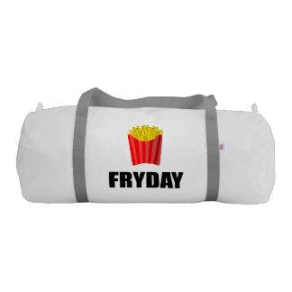 Fryday Friday Fries Gym Bag