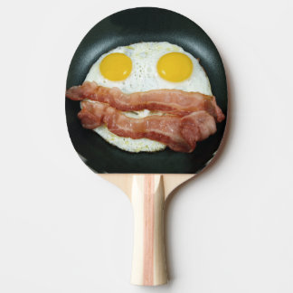 Frying Pan with Bacon and Eggs Ping Pong Paddle