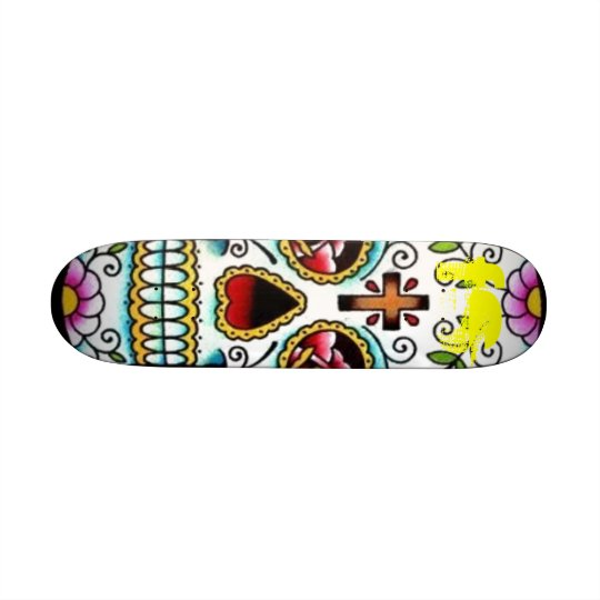 FS sugar skull skate board