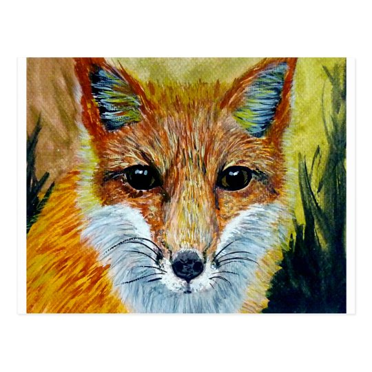 fSmart fox art Postcard