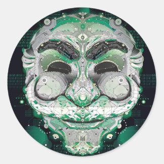 Fsociety Sticker, Glossy Round Sticker