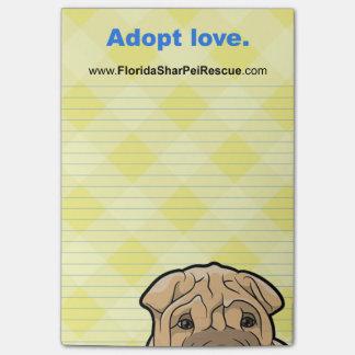 FSPR Post It Pad - Adopt Love. Post-it Notes