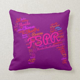 """FSPR Word Cloud Throw Pillow 16"""" x 16"""""""